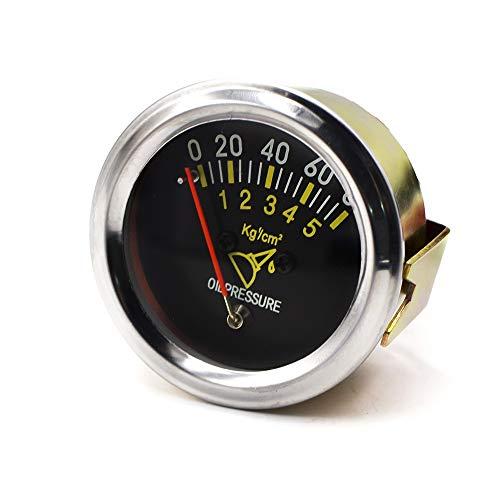 lifebea Analizador Detector de Gas 52mm 2 Inch Mecánico Coche 0-80 PSI Medidor de presión de Aceite Sensor de automóvil Tabla métrica Detector de Gas para propano
