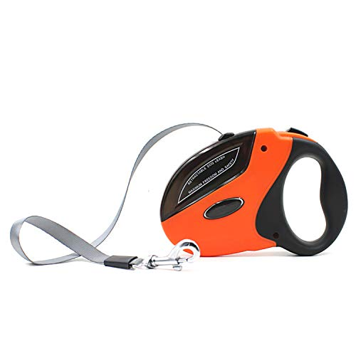 Retractable Dog Leash, 5m/16ft Heavy Duty Strong Nylon Extendable Dog Leash, for Large and Medium Dogs&Cats Up to 50 Kg(5m, Orange)