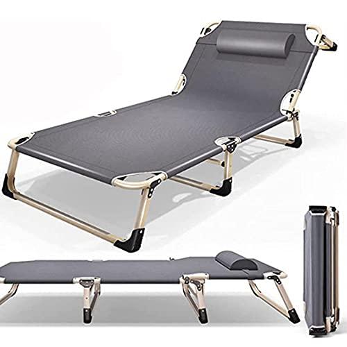 Sillón de Playa Plegable, sillón reclinable para Exteriores con reposacabezas, sillón reclinable Ligero, Adecuado para sillas de jardín, Camping, terrazas y Balcones