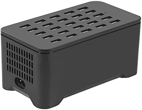 Kettles Caricabatterie da Port da 25 Porte USB Charger Hub Multiple. USB Caricabatterie Wireless della Stazione di Ricarica Compatibile con tavoli Smartphone e Auricolari Bluetooth Altri dispositivi