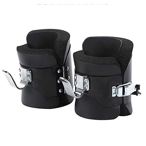 N \ A Anti-Gravity Suspension Pull-up Boots, Black Suspended Inverted Boots with Inverted Hooks Locking Mechanism, Safe and Comfortable for Professional Fitness (1 Pair)