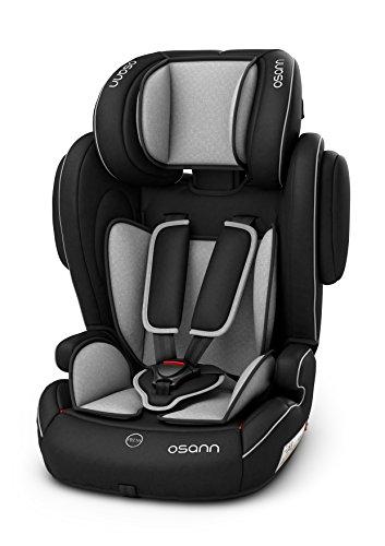Osann Kinderautositz Flux Isofix, Gruppe 1/2/3 (9-36 kg), Autositz Grau melange
