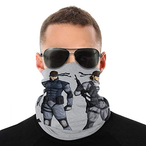 NBUQSG Metal Gear Double Solid Snake Variety Head Scarf Face Mask Magic Headwear Neck Gaiter Face Bandana Scarf