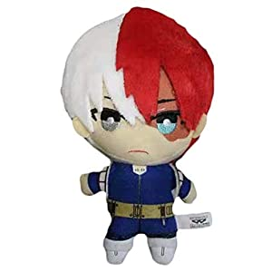 Elibeauty Lunanana My Hero Academia Juguete de peluche, almohada japonesa de anime muñeca de peluche de personajes de peluche, 15 cm (Todoroki Shouto)