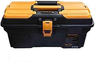 Taparia PTB16 Compact Plastic Tool Box with Organizer (Orange and Black)