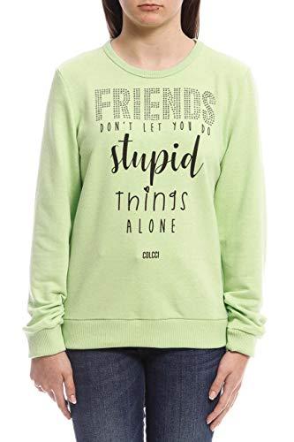 Blusa de moletom Estampada: Friends Don't Let You Do Stupid Things Alone, Colcci Fun, Meninas, Verde Lumine, 12