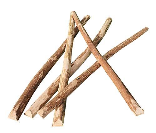 Zaunlatten Haselnuss 90 x 5 cm / 1 STK. - Natur Zaunbretter Staketen Latten zur Gartengestaltung, Zaunbau oder als Wand und Decken Verkleidung