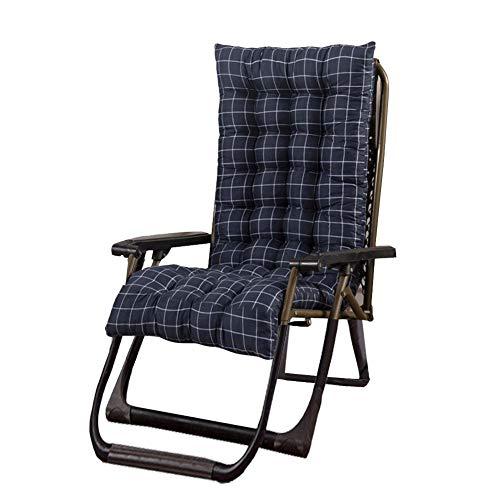 Lvhan Auflagen für Gartenliegen - Gartenstuhl Auflage,Liege Stuhl Polster Auflage Liegestuhl Stuhlkissen Anti-Rutsch für Sonnenliege 125x48x8cmcm