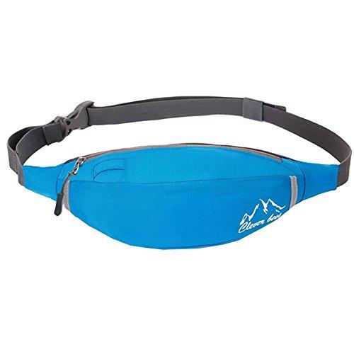 Annitnie Slim Fanny Pack Waist Bag Nylon Running Belt for Outdoor Sports