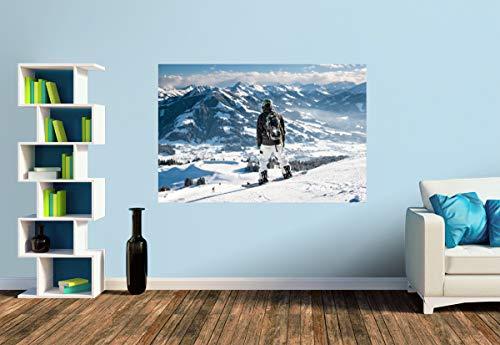 Premium Foto-Tapete Wilder Kaiser (verschiedene Größen) (Size S | 186 x 124 cm) Design-Tapete, Vlies-Tapete, Wand-Tapete, Wand-Dekoration, Photo-Tapete, Markenqualität von ERFURT