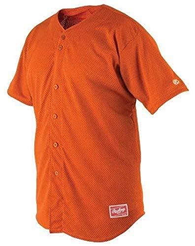 Rawlings Youth Full Button YBJ167 Jersey, Jungen, 564096, Burnt orange, Youth - X-Large
