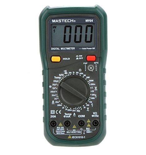 MASTECH my64multímetro digital DMM Frecuencia de capacitancia medidor de temperatura probador w/prueba HFE