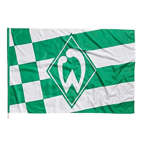Werder Bremen Raute Hissfahne (one Size, grün/weiß)
