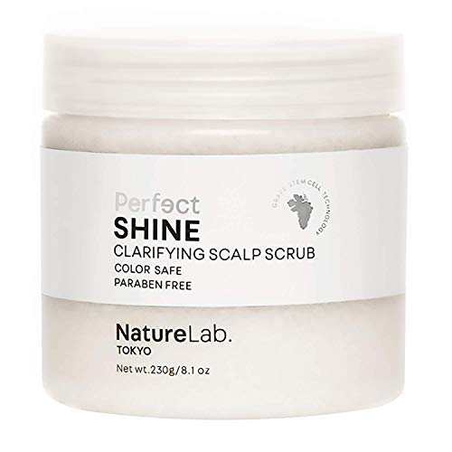 NatureLab Tokyo Perfect Shine Clarifying Scalp Scrub - Exfoliating Scalp Sugar Scrub with Hyaluronic Acid + Iridescent Pearl, Detox and Clear Buildup for Shiny Hair (8.1 oz / 230 Grams)