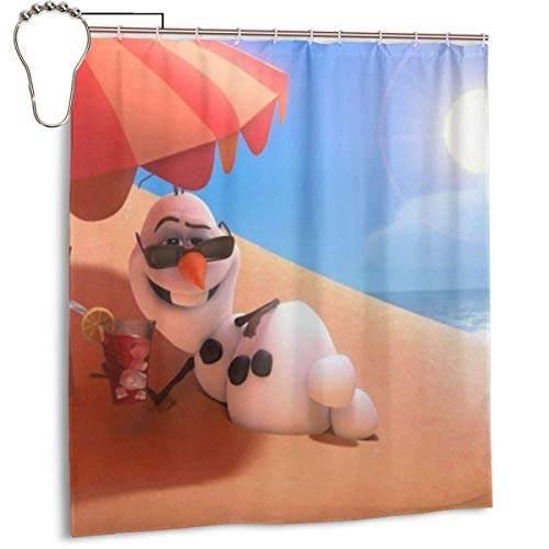 zhengdengshuibaihuodian Frozen Olaf wasserdichter Polyester Duschvorhang Badezimmer Dekor