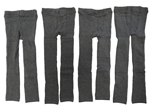 4er Pack Dunkelgraue Thermo Unisex Jungen und Mädchen Leggings Größe 86-134 (98-110)