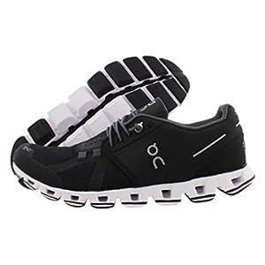 ON Women's Cloud Sneakers, Black/White, 7.5 Medium US