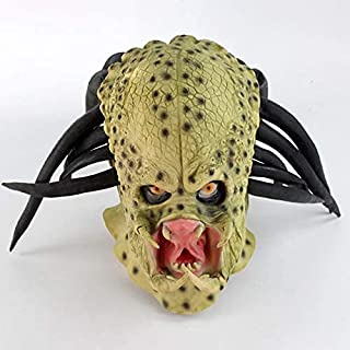 Horror Masks Latex Movie Alien Predator Mask Costume Helmet Props Adult Antenna Halloween Party Horror Full Face Head Mask...