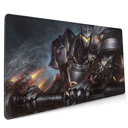 Ov-Er-Wat-Ch Rein-Hardt Wil-Helm Gaming Mouse Pads Non-Slip Mouse Pad Mouse Mat for Office Game15.8x35.5 in