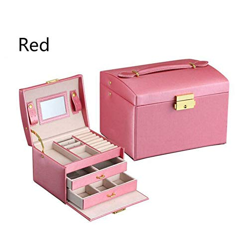 LCBLC Juwelendoosjes & Organisatoren Juwelendoosjes Drie Dubbele Lade Sieraden Display Gift Box