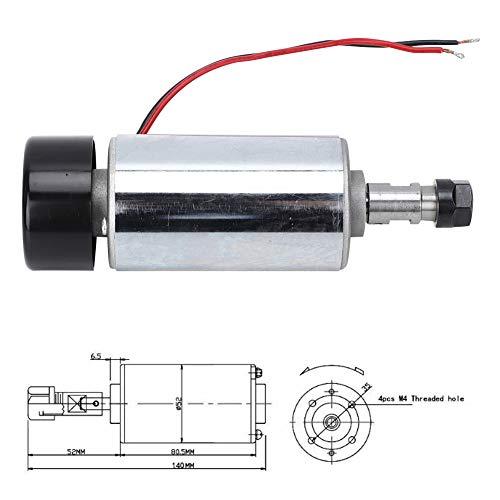 Acogedor DC12-48V Spindle Milling Motor,300W Engraving Machine Spindle, Air-Cooling Spindle,Cooled Spindle Motor,for Engraving PCB,Acrylic,Drilling,etc.