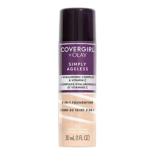 Covergirl + Olay Simply Ageless 3-in-1 Liquid Foundation, Creamy Natural