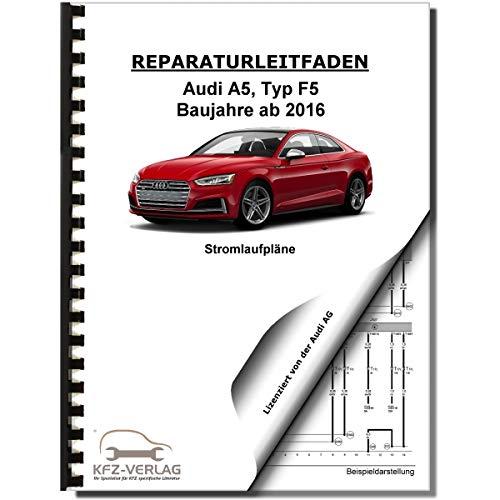Audi A5 Typ F5 ab 2016 Schaltplan Stromlaufplan Verkabelung Elektrik Pläne