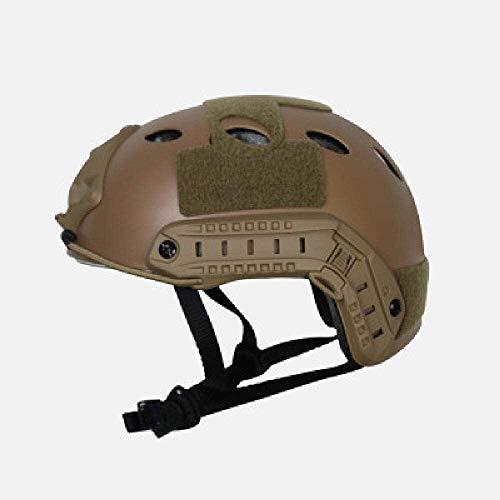 LIjiMY Fast Helm BJ Quadratloch Reithelm CS Rail Army Fan Tactical Helm Military Accessoires Airsoft Helm Zubehör (Color : Khaki)