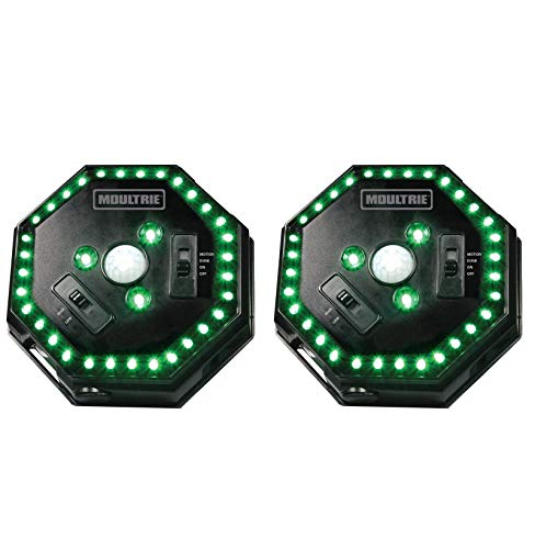 (2) MOULTRIE Motion-Activated LED Feeder Hog Lights w/ 30FT Radius | MFA-12651