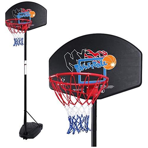 YWAWJ Basketballkorb Tragbarer Basketballkorb & Goal Basketballkorb Basketball Ausrüstung Höhenverstellbar bis zu 3 Meter mit Backboard und Räder for die Jugend Kinder Indoor Outdoor Nutzung