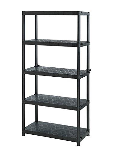 Keter Kunststof rek met planken 60 kg / 300 kg zwart