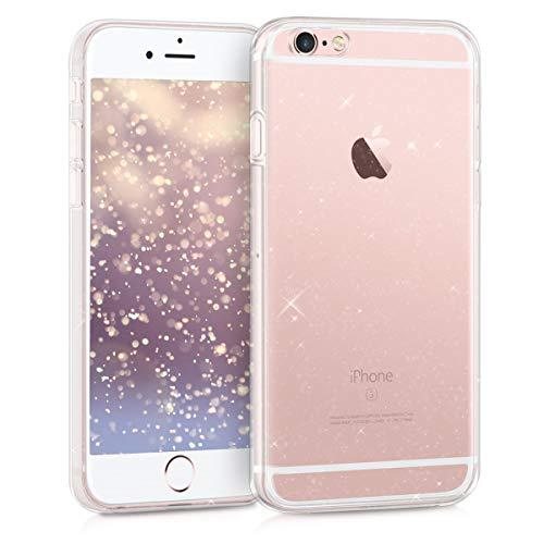 kwmobile Case kompatibel mit Apple iPhone 6 / 6S - Hülle Silikon transparent Glitzer Uni Transparent