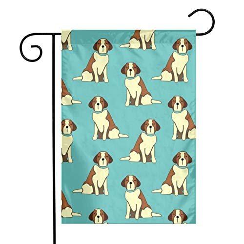 KAWAHATA Dog-Animal-Pattern UV Fade Resistant Garden Flags Custom Vivid Color Home Decoration
