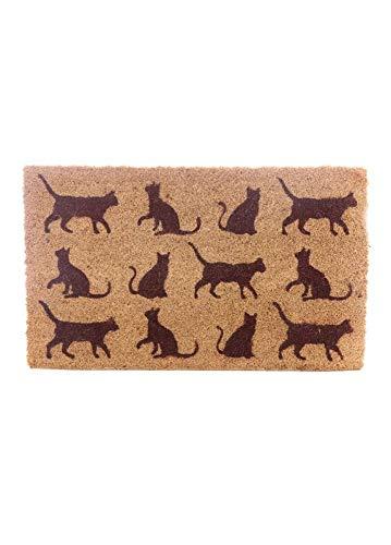 Puckator I Love My Cat - Felpudo, Fibra de Coco, marrón, 75 x 2 x 45 cm