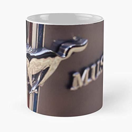 5TheWay Macro Mug Logo Mustang Ford Best 11 oz Kaffeebecher - Nespresso Tassen Kaffee Motive