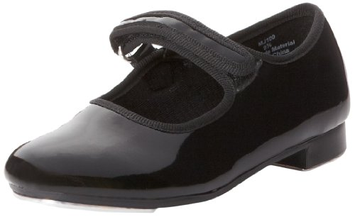 Dance Class Girls Molly Jane Tap Shoe Mary Flat  Black Patent  9 Toddler