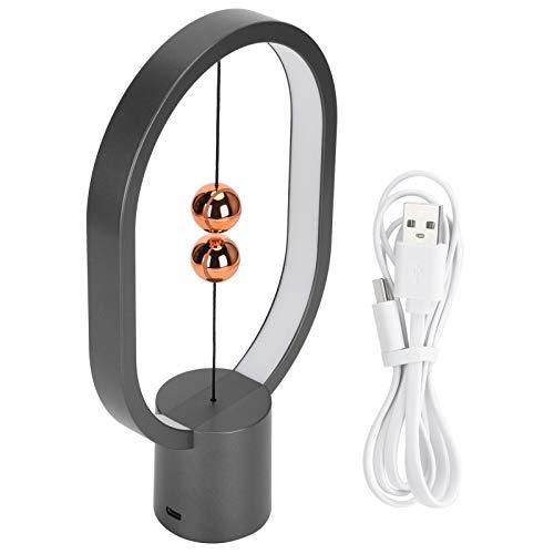 Fydun Lámpara de Escritorio magnética LED Lámpara de Equilibrio Lámpara de Mesa de Control táctil Interruptor de Aire para Dormitorio Oficina en casa Familia Amigos Amantes (Negro)