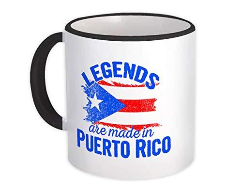 Las leyendas se hacen en Puerto Rico : Taza de Regalo : Marcar País de expatriados puertorriqueños