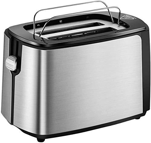 Toaster 2 Scheiben integrierter Brötchenaufsatz, Automatik-Toaster 6...