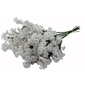 Admired By Nature Artificial Full Blooming Baby Breath Flowers Spray for Home, Wedding, Restaurant & Office Decoration Arrangement, White, 3 Stems (48 Pieces Spray)