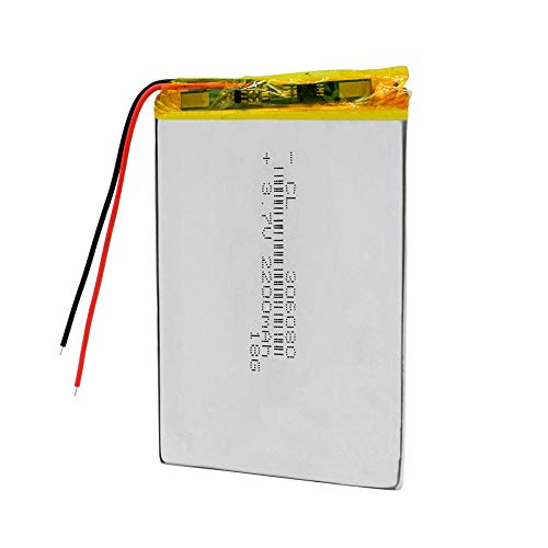ahjs457 Polymer lithium battery 306080 2200mah PDA smart tablet computer 3.7 v Rechargeable Battery For MP5 GPS DVD Camera iPad Speaker
