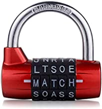 5 Letter Zinc Alloy Combination Padlock Code Password Lock Door Cabinet Drawer Bike Motorcycle Student Locker Locks (Type 2)
