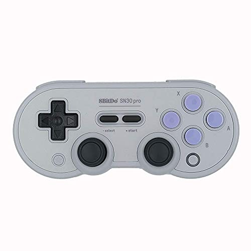 Gam3Gear 8bitdo SN30 Pro SN Edition Controller Wireless Bluetooth 4.0 Gamepad for NS Switch, Windows, Android, macOS, Steam with Keychain