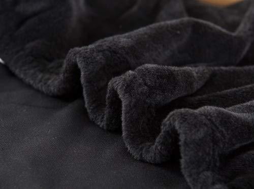 Copridivano in spesso velluto elastico, fodera protettiva da divano, aderente e facile da mettere, in tessuto elasticizzato, Black, 4 Seater:235-300cm
