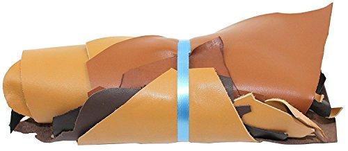 Pelle Scarti 1 kg - Varie shades of marrone assortiti- A4 dimensione - Ritagli Artigianato Pezzi, Qualsiasi Lavori ad esempio Riparazione Sacchetti, mobili. 100% In Vera Pelle! by Langlauf Schuhbedarf