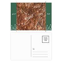茶色の岩粗面パターン グッドラック・ポストカードセットのカードを郵送側20個