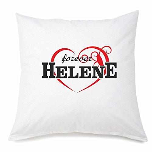 Funda de almohada de microfibra I Love Helene en 40 cm x 40 cm con cremallera para cualquier amante/fan que esté lejos