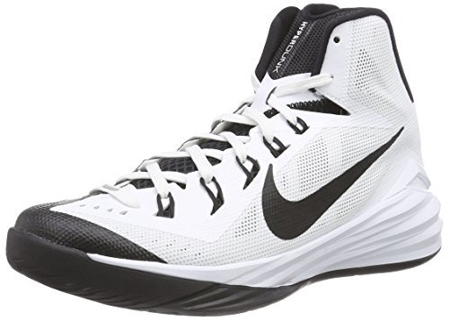 Nike Women's A100 Hyperdunk 2014 White and Black Basketball Shoe - 10 B(M) US