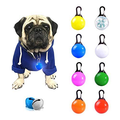 Sicherheits Clip-On LED Blinklicht für Haustier Sicherheit, 3 Blinkmodis, wasserdichte Sicherheit Haustier Lichter für Hunde, Katzen - 8PCS + 2 Stück Glöckchen