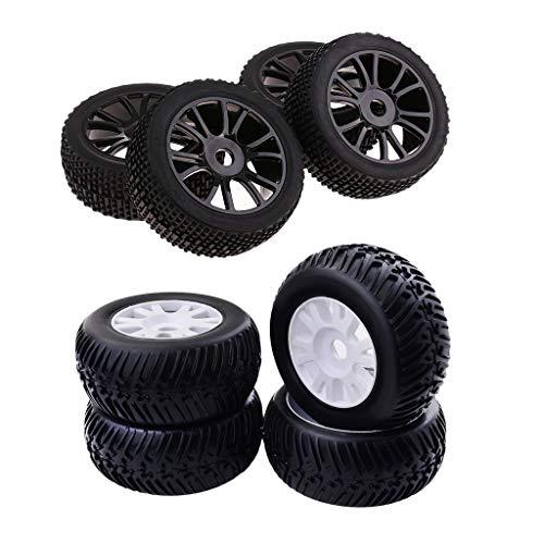 lahomia 8 Piezas 1: 8 RC Neumáticos de Coche Hexagonal para HSP HPI RC Buggy Truck Car Parts
